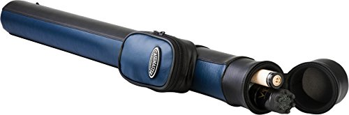 Casemaster by GLD Products 51-0700-03 Q-Vault Supreme Billiard/Pool Cue Hard Case, Holds 1 Complete 2-Piece Cue (1 Butt/1 Shaft), Blue