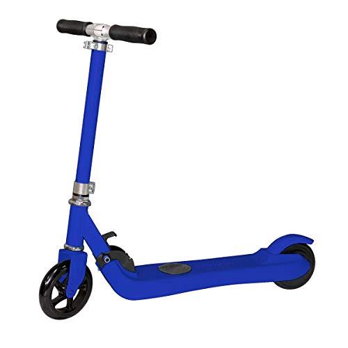 PRIXTON SCO500 - Patinete Electrico Plegable para Niño y Niña/Scooter Eléctrico Infantil Unisex, Velocidad máxima 6km/h, Autonomía 5 km, Aluminio de Alta Resistencia, Color Azul