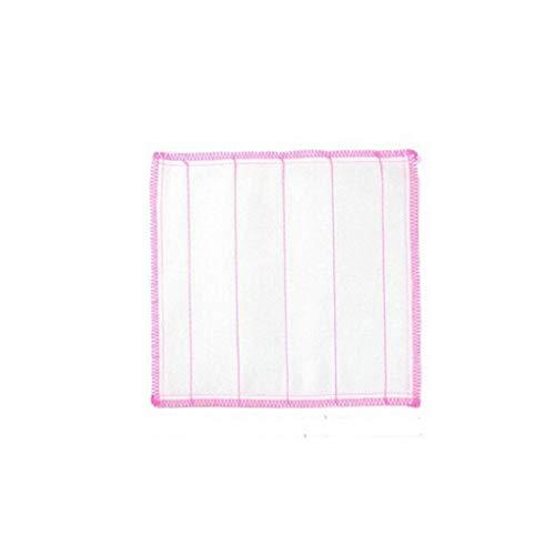Vokmon 5pcs Cinco Capa de Gasa de algodón Absorbente del Plato Esponjas de Cocina Placa palangana sin Aceite