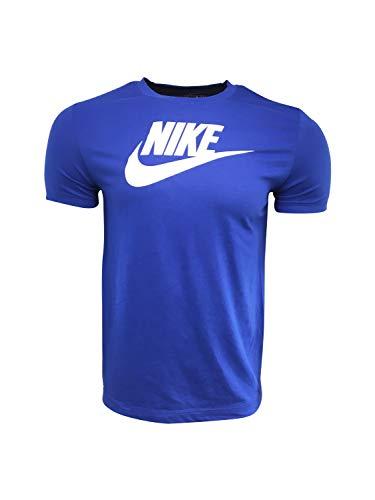 Nike Men's T-Shirt Cotton/Polyester Blend DM8203 Blue (Large)