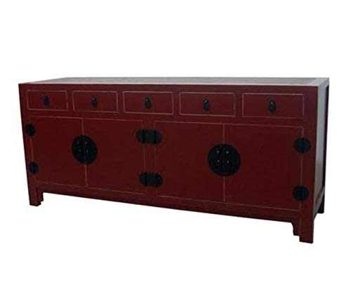 Fine Asianliving Buffet Chinois Commode Chinois Meubles Chinois Armoire de Mariage Chinoise Style Rangement Chinois Mobilier Oriental Armoire Orientale Asiatique Mandarin Pekin 180 x 80 x 50
