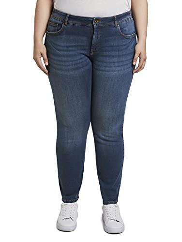 TOM TAILOR MY TRUE ME Damen Basic Slim Jeans, Blau (Used Mid Stone Blue 10119), 52