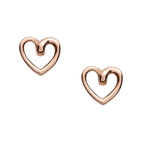 Pendientes de botón de mujer Fossil en oro rosa JOF00609791-JOF00609791