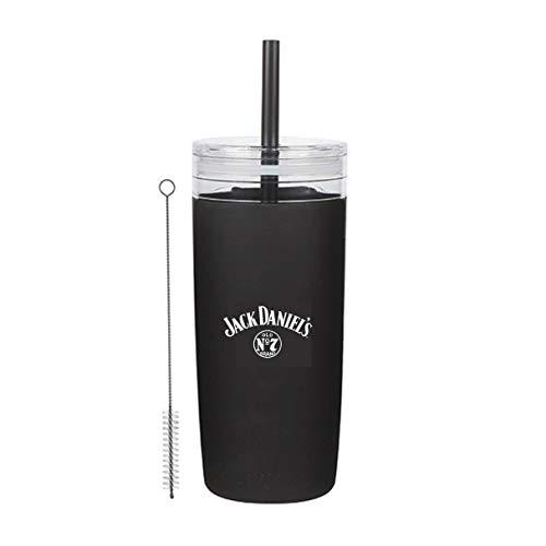 Jack Daniel's Offizieller Acrylbecher - Becher aus Silikon und Acryl mit Jack Daniels Old No. 7 Logo - 32 Unzen
