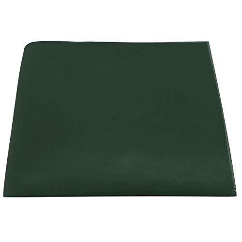 King & Priory Cuadro de Bolsillo de Terciopelo Verde Oscuro, Pañuelo De Bolsillo