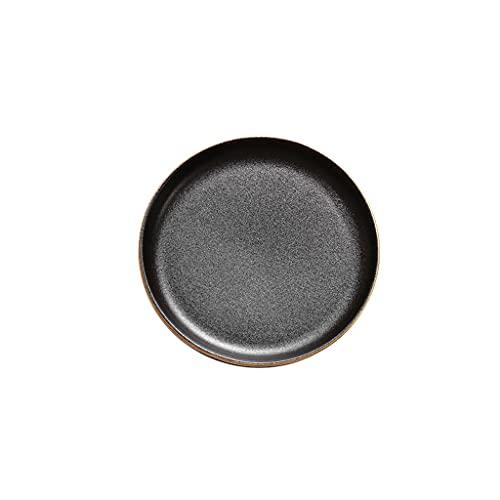 Platos Placas de cena negras Placas de cerámica modernas Placas negras mate para horno de microondas y lavaplatos Safe Steak Ensalada Pasta Aperitivo y platos de postre Conjunto Vajilla