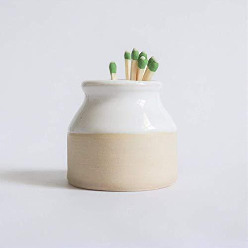 Henro Company Match Striker - Handmade Two Toned Strike 1 3/4' x 2', mini pottery