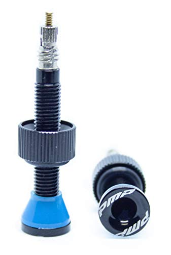 PMP - Válvulas Tubeless en Ergal CNC 50 mm de Longitud, Ideal para MTB. Tipo Presta, con Arandela Sobredimensionada y Color Anodizado, Ligeras y Resistentes.