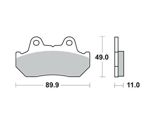 Preisvergleich Produktbild Bremsbeläge LUCAS Typ MCB512 Für Honda XBR 500