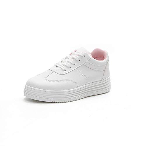 GERPY Spring White Shoes Zapatillas de Deporte con Plataforma para Mujer Zapatos Casuales para Mujer Mujer