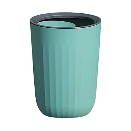 RUONING Cubo de basura de plástico para cocina, hogar, oficina, color verde
