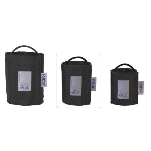 MDF® Latexfreie Blutdruckmanschette - Große Erwachsene - Einschlauch - D-Ring - Schwarz (MDF2080461D-11)