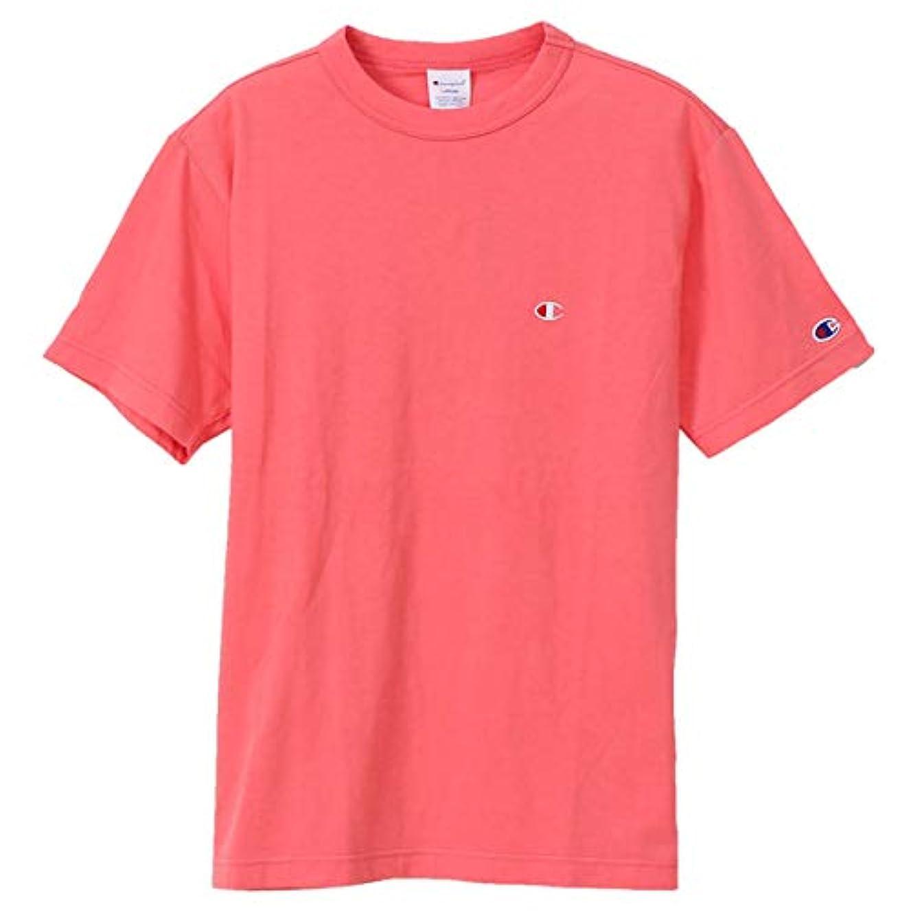 パシフィックケーキ失うチャンピオン Tシャツ メンズ CHAMPION ベーシック チャンピオン 19SS 胸Cロゴ ワンポイント ピンク