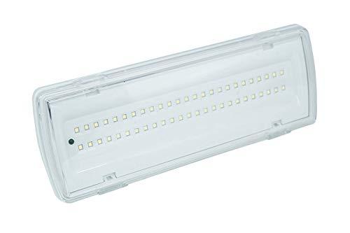 Lampada Di Emergenza Con 50 Led Completa Di Incasso E Batteria Luce Bianca 4W