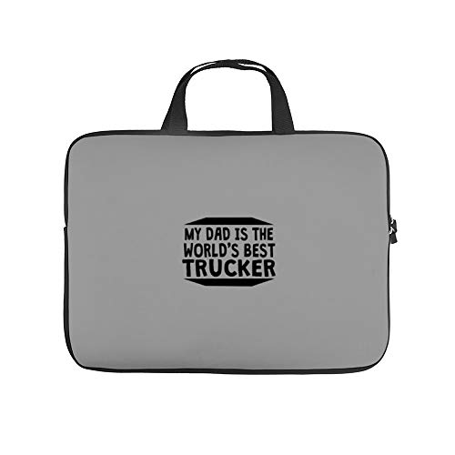 My Dad is The World's Best TruckWaterproof Laptop Bag Tablet Handbag Notebook Carrying Case Briefcase 17Inch