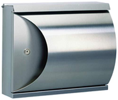 Albert 690789 Briefkasten, 40 x 16 x 33,5 cm, Edelstahl, silber