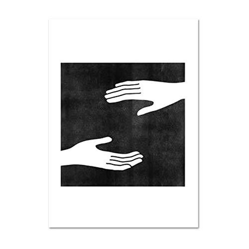 Moderne muur decor een lijn kunst gezicht schets canvas schilderij zwart-wit prints abstract artwork posters voor woonkamer, L554-1,15x20cm geen frame