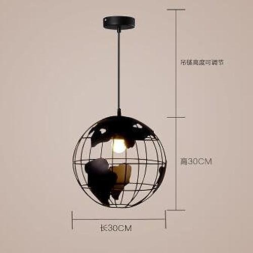 LuckyLibre Pendentif mode moderne de création d'éclairage Lampe Lustre Chambre Salon Cuisine,le Noir Lustre