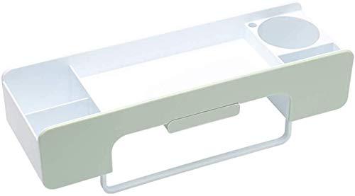 AINIYF Baño Plataforma de baño Ducha Organizador Arte Cepillo de Dientes Titular multifunción Retro Mesa Caja de Almacenamiento Decoración, 6 Colores (Color: Blanco, Tamaño: A)