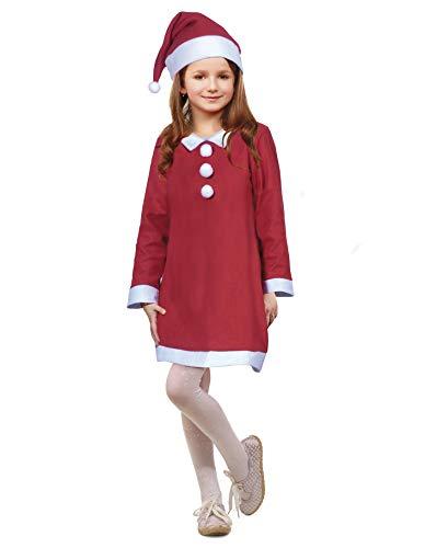 PARTY FIESTA Disfraz Santa Claus Niña (7-9)