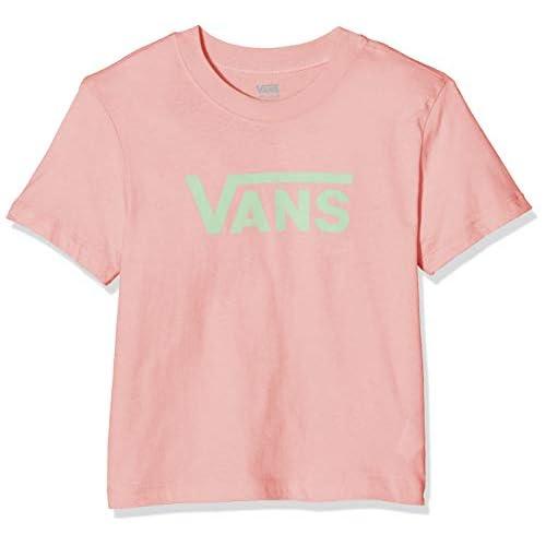 Vans Flying V Grls Boxy T-Shirt, Rosa (Pink Icing P8a), Medium Bambina