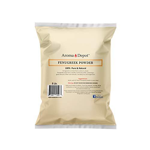 5Lb Fenugreek Seed Powder (Trigonella foenum graecum) 5 pound Menti Powder Bulk Herb | Gluten Free & Non-GMO | Hair and skin health.