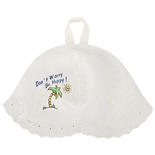 TOPINCN sauna hoed vrouw Vaporarium hoed moderne stijl lichte wolvilt hoed sauna accessoires voor mannen en vrouwen gebruiken MEERWEG verpakking