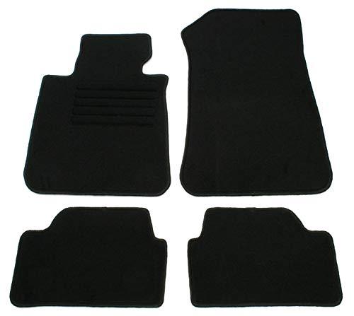 AD Tuning GmbH HG10228 Velours Passform Fußmatten Set Schwarz Autoteppiche Teppiche Carpet Floor mats