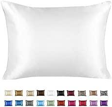 ShopBedding Luxury Satin Pillowcase for Hair – King Satin Pillowcase with Zipper, White (1 per Pack) – Blissford