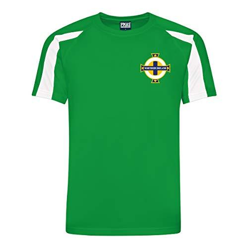 Print Me A Shirt Equipo de fútbol Camiseta de Futbol Kit Equipo de Irlanda del Norte Personalizable para Hombres, Adultos, Mujeres Unisex