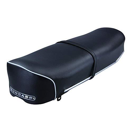 Zündapp Sitzbank schwarz mit weißer Kordel und schwarzem Emblem für Zündapp GTS KS C 50 Typ 517