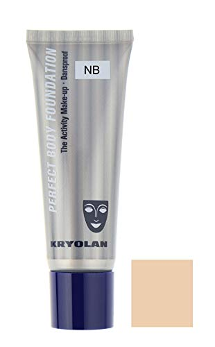 Kryolan Perfect Body Foundation 50 ml deckendes wasserfestes wischfestes Profi Make up Farbe natural beige