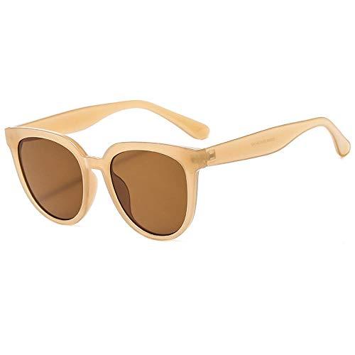 ZZZXX Gafas De Sol Mujer Gafas De Sol Europeas Y Americanas Con Montura Exterior Gafas De Piloto Con Estuche Y Paño De Limpieza, Para Ciclismo Pescar Y Conducir