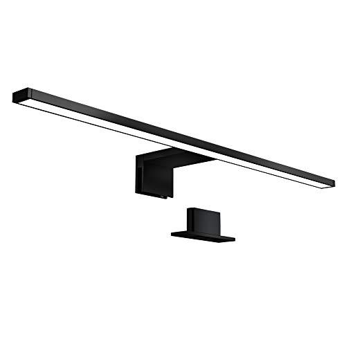 B.K.Licht - Lámpara Espejo de Baño LED IP44 8W 230V, Pinza + Armario, Blanco Frío 4000k 780lm, 60 x 10.3 x 3.6 cm