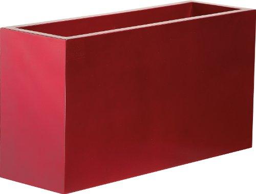 Vaso Cassetta Legno/Laccato - Colore Rosso Cm.50 h. (100x40 cm)
