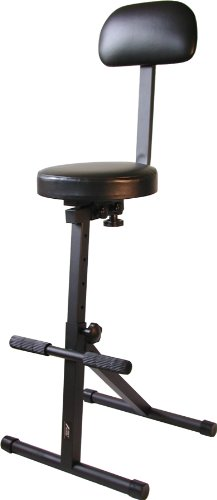 Audio2000'S AST4201 Heavy-Duty Foam-Padded Seat with Adjustable Height,Black
