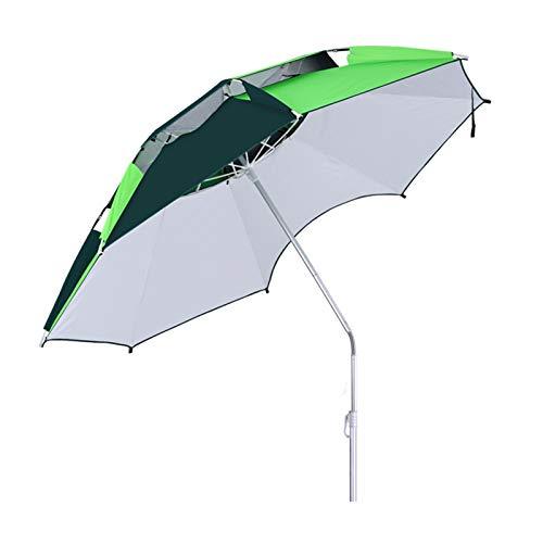 NNBD Sombrilla Plegable para el Sol, sombrilla portátil, sombrillas Grandes, Dosel con ventilación Doble para jardín, Playas, Pesca Esencial