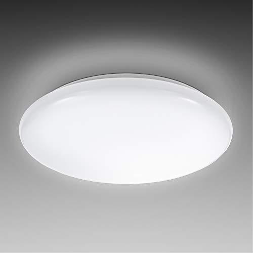 B.K.Licht I 12W LED Deckenlampe I 4.000K Neutralweiß I 1.200 Lumen I Ø28cm I Schutzart IP20 I LED Deckenleuchte