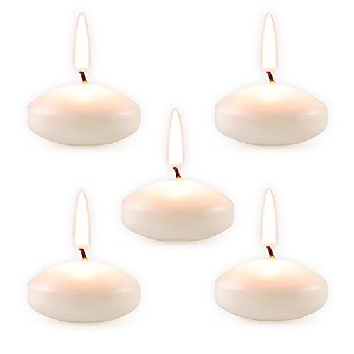 48 Pcs Floating Candles for Centerpieces, Mini Small White Unscented Pool Candles,Cute and Elegant Burning Candles for Weddings, Dinner Party