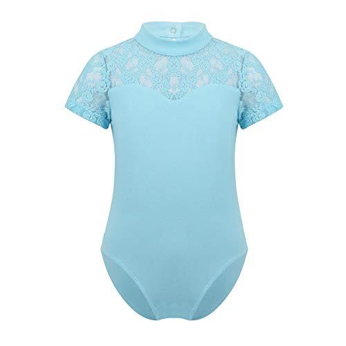 Hjbds Ballett-Trikotanzug Costome for Kinder Mädchen Gymnastik Trikot Badeanzug for Tanzen-Ballerina Tutu Kinderballett Leotard Tanzkleidung (Color : Sky Blue, Size : XL)