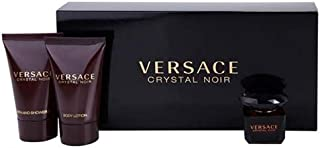 Versace Crystal Noir By Gianni Versace For Women. Set-eau De Parfum 0.17 OZ Mini & Body Lotion 0.8 OZ Mini & Shower Gel 0....