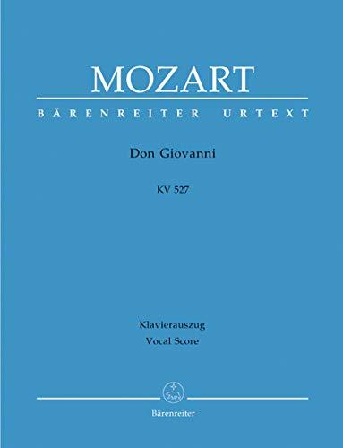 Il dissoluto punito ossia il Don Giovanni KV 527. Dramma giocoso in zwei Akten. BÄRENREITER URTEXT. Klavierauszug, Urtextausgabe