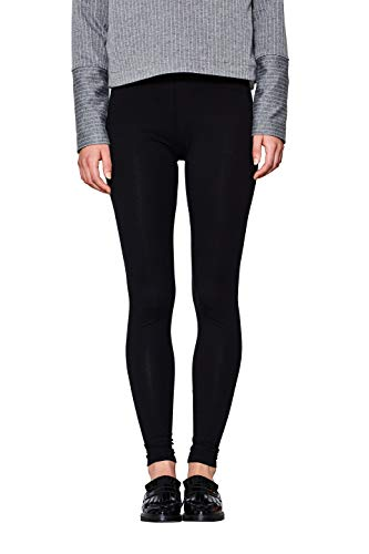 edc by ESPRIT Damen 990CC1B309 Leggings, Schwarz, L