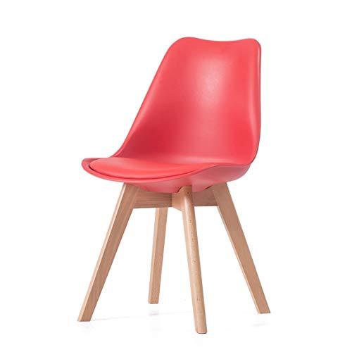 PLL Europese vrijetijds-rugleuning-stoel huishoudstoel creatieve eenvoudige bureaustoel, rood