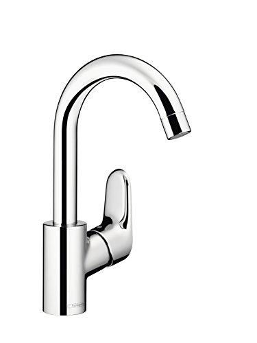 Hansgrohe Waschtisch-Armatur, Schwanenhals-Design, Schwenkbar, Ecos Swivel, Chrom