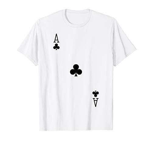 Spielkarte Kartenspiel Kreuz As Karneval Kostüm Verkleidung T-Shirt