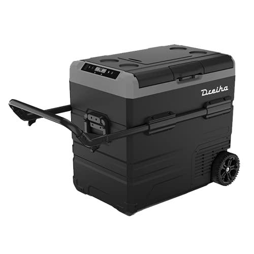 Dreiha CBX55-LR Nevera Portátil con compresor LG, CoolingBox 55-LR con una capacidad de refrigeración de +20°C a -20°C, Conexiones 12V / 24V 0 110V/ 220V para coche, camión, barco y autocaravana