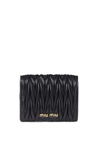 Miu Miu Luxury Fashion Donna 5MV204N88F0002 Nero Pelle Portafoglio   Stagione Permanente
