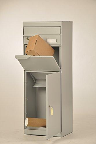 Paketbriefkasten Etna 771 Weiß-Aluminium mit Montageset