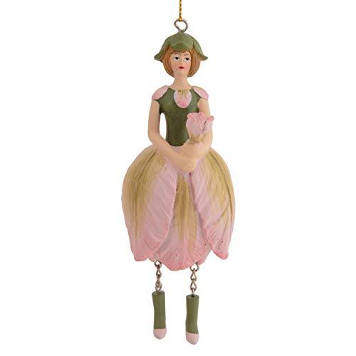 Rosemarie Schulz Dekofigur Papageien-Tulpe Blumenmädchen Figur zum Hängen Flower Fairy - Skulptur